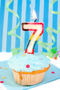 Boy's seventh  birthday Royalty Free Stock Photo