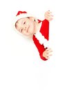 Boy santa claus on a white background Stock Photo