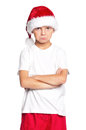 Boy in Santa hat Royalty Free Stock Photo