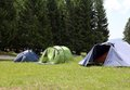Boy scout camp with tents to sleep during the summer camp Royalty Free Stock Photo