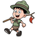 Boy scout vector illustration of Royalty Free Stock Photo