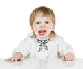 Boy scullion with flour on his face Royalty Free Stock Photos