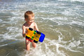 Boy & sea Royalty Free Stock Image