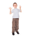 Boy show big size Royalty Free Stock Image