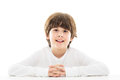 Boy sitting at table Royalty Free Stock Photo