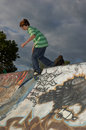 Boy at the Skate Park Royalty Free Stock Photo