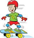 Boy on Skateboard Royalty Free Stock Images