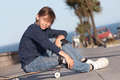 Boy with skateboard Royalty Free Stock Photo