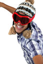Boy with ski mask trendy Royalty Free Stock Images