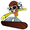 Boy on snowboard Royalty Free Stock Photo