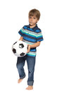 Boy with soccer ball Royalty Free Stock Photo