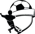 Boy Soccer Shield Stock Image