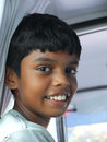 Boy in south india a young looking out the window Stock Images