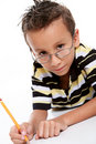 Boy studying Royalty Free Stock Images