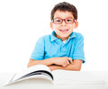 Boy studying Royalty Free Stock Photo