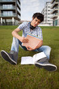 Boy studying Stock Photography