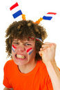 Boy is supporting the Dutch Royalty Free Stock Photo