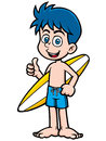 Boy Surfer Royalty Free Stock Photo