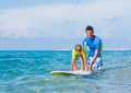 Boy surfing Royalty Free Stock Photo
