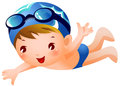 Boy Swimmer Stock Photo