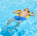 Boy swimming in the pool cute Royalty Free Stock Photo
