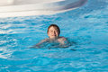 Boy swimming in the pool cute Royalty Free Stock Photography