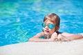 Boy at swimmingpool Royalty Free Stock Photo