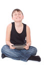 Boy with a Tablet PC Stock Image