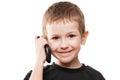 Boy talking mobile phone Royalty Free Stock Photo