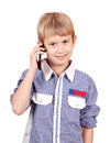 Boy talking on phone Royalty Free Stock Photography