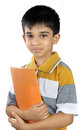 Boy with textbook indian school Stock Photo