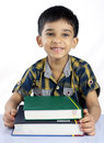 Boy with Textbooks Royalty Free Stock Image