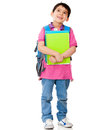 Boy thinking about school Royalty Free Stock Photo