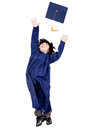 Boy throwing mortarboard Royalty Free Stock Photo