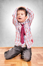 Boy with tie Royalty Free Stock Images