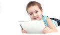 Boy with touchpad Stock Image