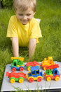 Boy with toys Stock Photos