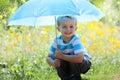 Boy with umbrella Royalty Free Stock Photo