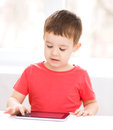 Boy using tablet Royalty Free Stock Photography
