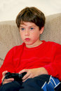 Boy video game Stock Image