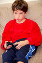 Boy video game Royalty Free Stock Image