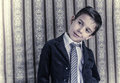 Boy in vintage suit Stock Photos