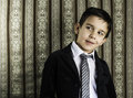 Boy in vintage suit Stock Images