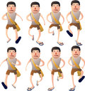 Boy walk cycle animation character Royalty Free Stock Image