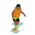 Boy wearing a lifejacket Royalty Free Stock Photo