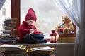 Boy, writing letter to Santa Royalty Free Stock Photo
