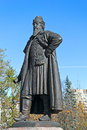 Boyar odinets town odintsovo moscow area monument of founder of this town Stock Photo
