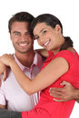 Boyfriend carrying girlfriend Royalty Free Stock Photos