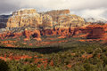 Boynton Red White Rock Canyon Snow Sedona Arizona Stock Images