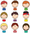 Boys avatar useful for social network Royalty Free Stock Image